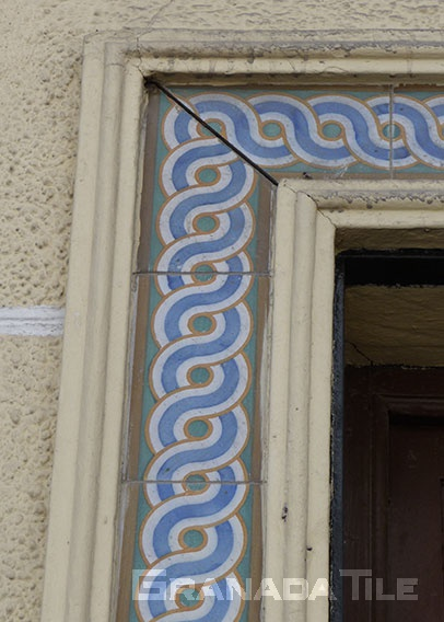 Cement tile even pops up around doorways in Ronda, Spain.