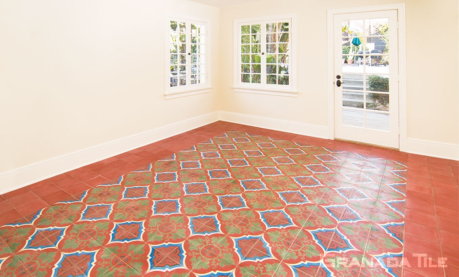 Cement Tile Study floor in Venezia 901 Custom Design