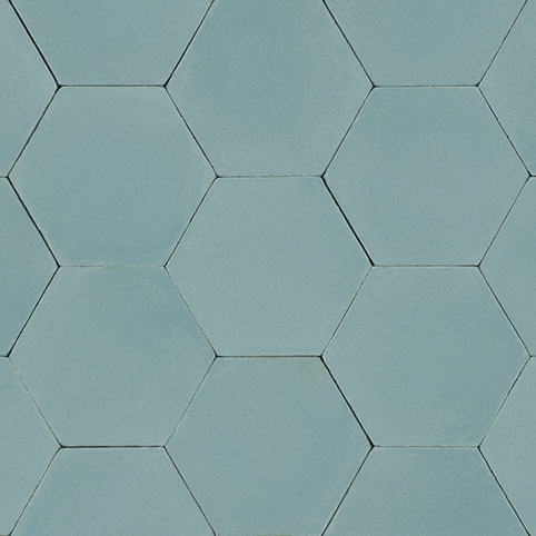 Hexagon - Aqua - In Stock