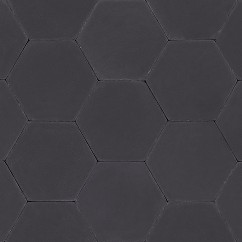 Hexagon - Black & Hexagon - Black | Cement and Concrete Tiles - Granada Tile