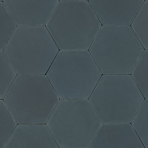 Hexagon - Midnight & Hexagon - Midnight | Cement and Concrete Tiles - Granada Tile