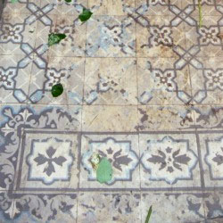 Badly worn ceramic encaustic - Granada Tile Company