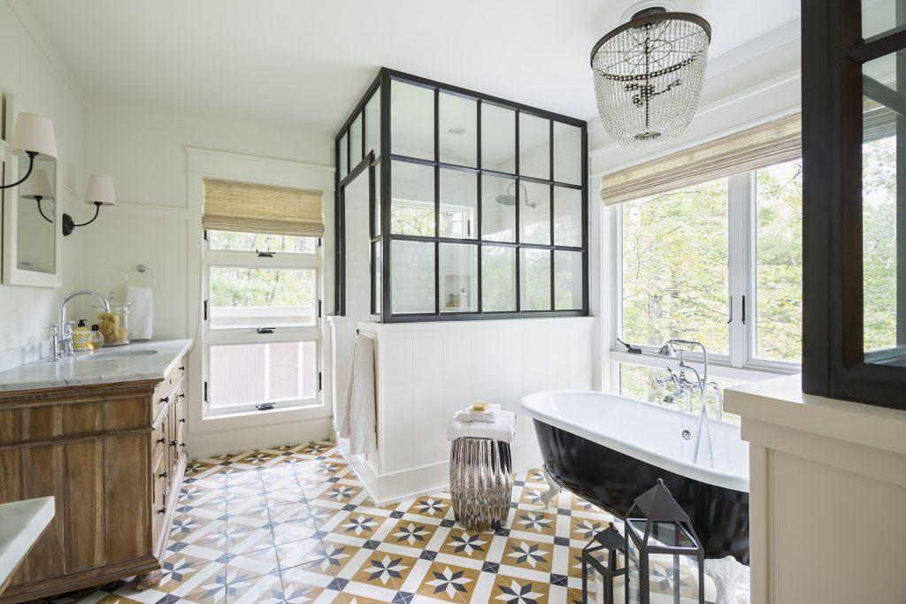 Toscano Cement Tiles Ground A Beautiful Bathroom Granada