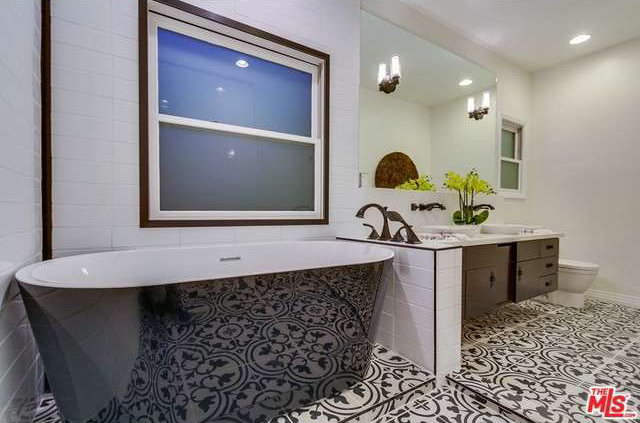 Granada Tiles Cluny Cement Tiles Upgrade A Black And White Bathroom - Slick tile floors
