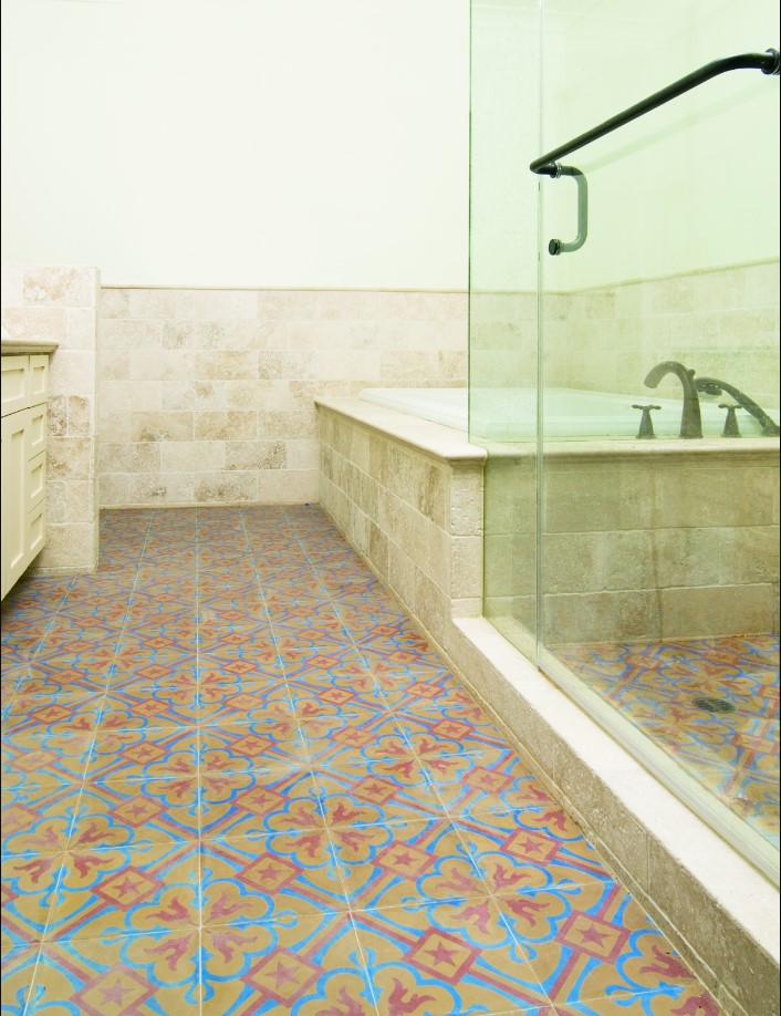 Use Cement Tile To Make A Statement In Your Bathroom Granada Tile - Cement tile maintenance