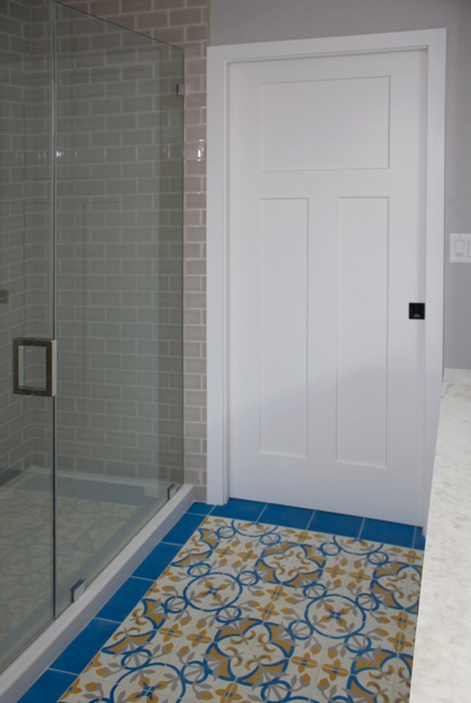 Our St Tropez Cement Tiles Add Up To A Beautiful Bathroom